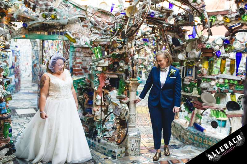 Best Magic Gardens Philadelphia Same Sex Wedding Photographer